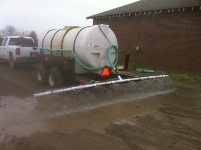 Treatments are easily applied with water trucks.